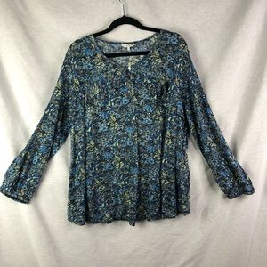 Lucky Brand Floral Long Sleeve Top